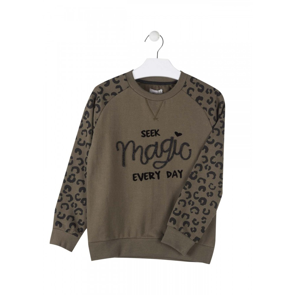 Sudadera Losan niña junior Magic animal print
