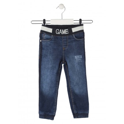 Pantalón Denim Losan Kids niño Play Hard infantil Slim goma