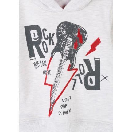 Detalle estampado Sudadera Losan Kids niño ROCK! infantil capucha