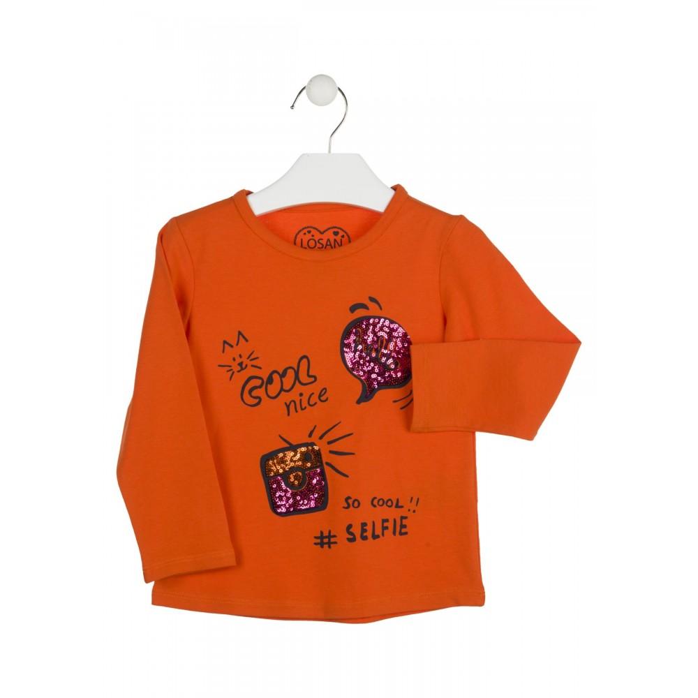 Camiseta Losan Kids niña Cool nice infantil manga larga