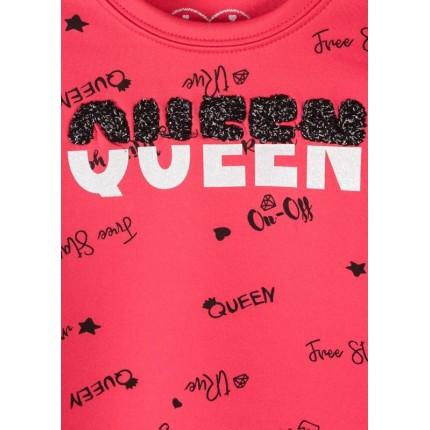 Detalle estampado en relieve Vestido sudadera Losan Kids Queen niña infantil