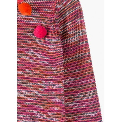 Detalle Vestido Losan Kids niña Pompones infantil tricot