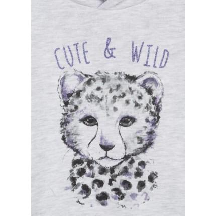 Detalle estampado Sudadera Losan Kids niña Cute & Wild infantil capucha