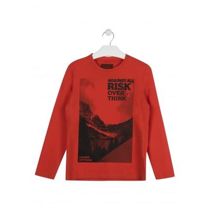Camiseta Losan niño junior RISK manga larga