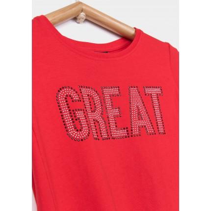 Detalle estampado Camiseta Tiffosi Kids Callie niña top corta