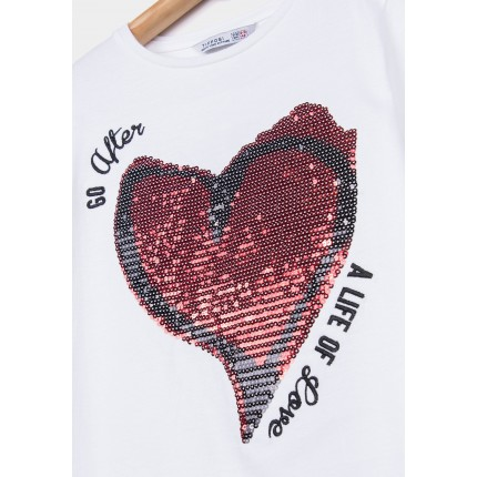 Detalle estampado Camiseta Tiffosi Kids Cleo niña junior