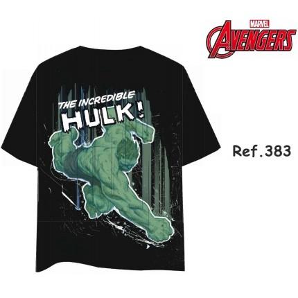Camiseta Hulk hombre Marvel manga corta