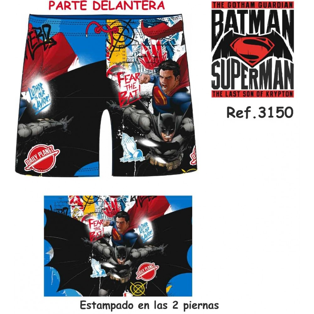 Bañador Batman Superman niño bermuda