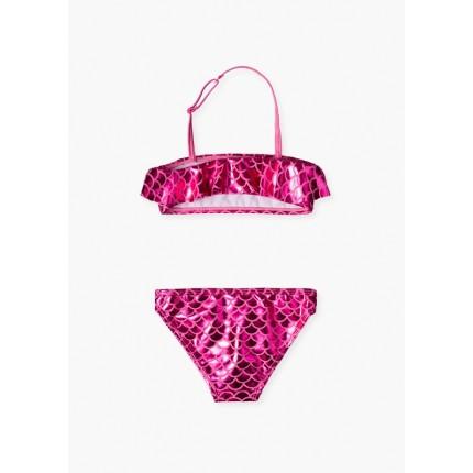 Espalda Bikini Losan Kids niña escamas de sirena