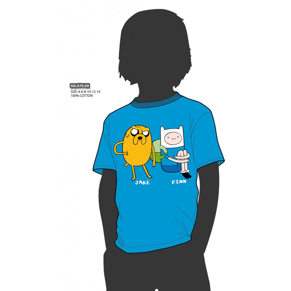 Camiseta Hora de Aventura niño junior Jake y Finn manga corta