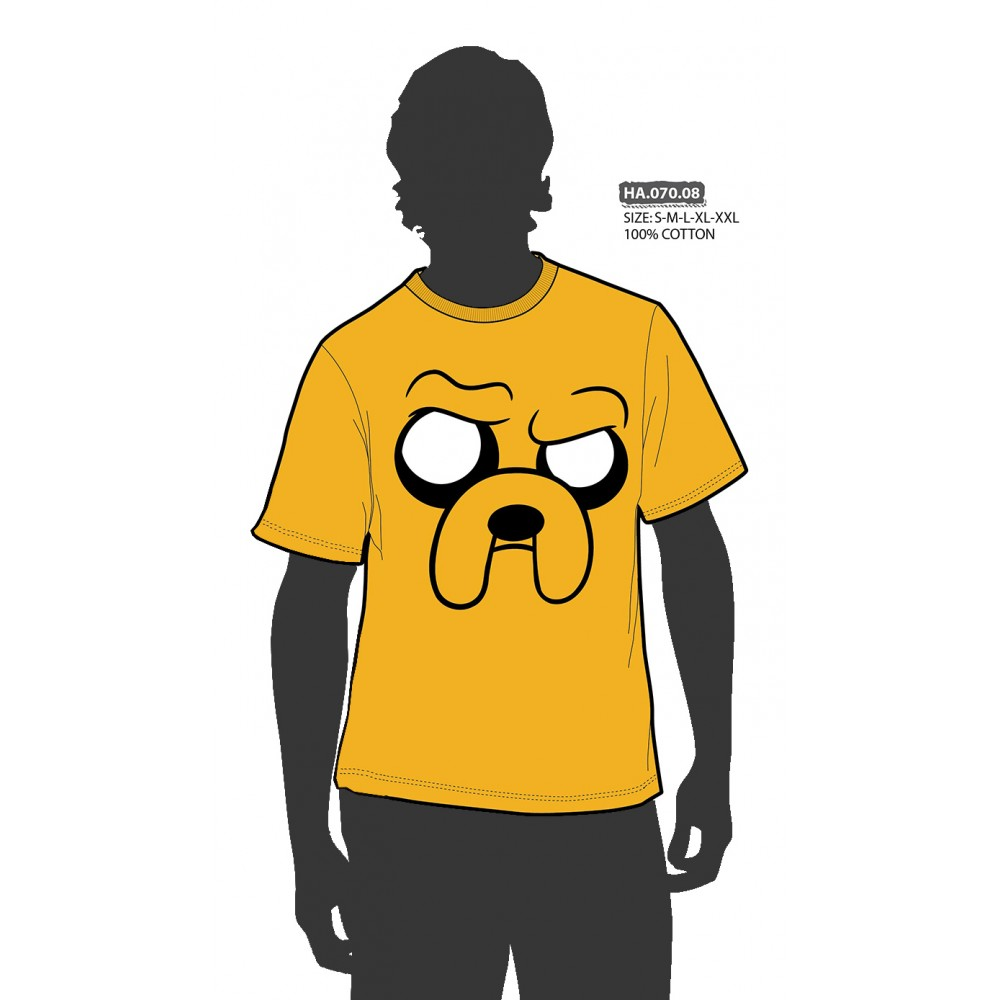 Camiseta Hora de Aveturas Adulto Gruñendo Jake el perro manga corta