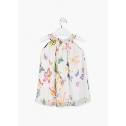 Parte trasera Vestido Losan Kids niña Chic Collection mariposas