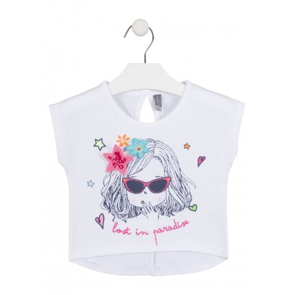 Camiseta Losan Kids niña Lost in paradise top corta
