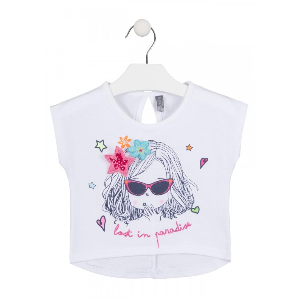 Camiseta Losan Kids niña Lost in paradise top corta