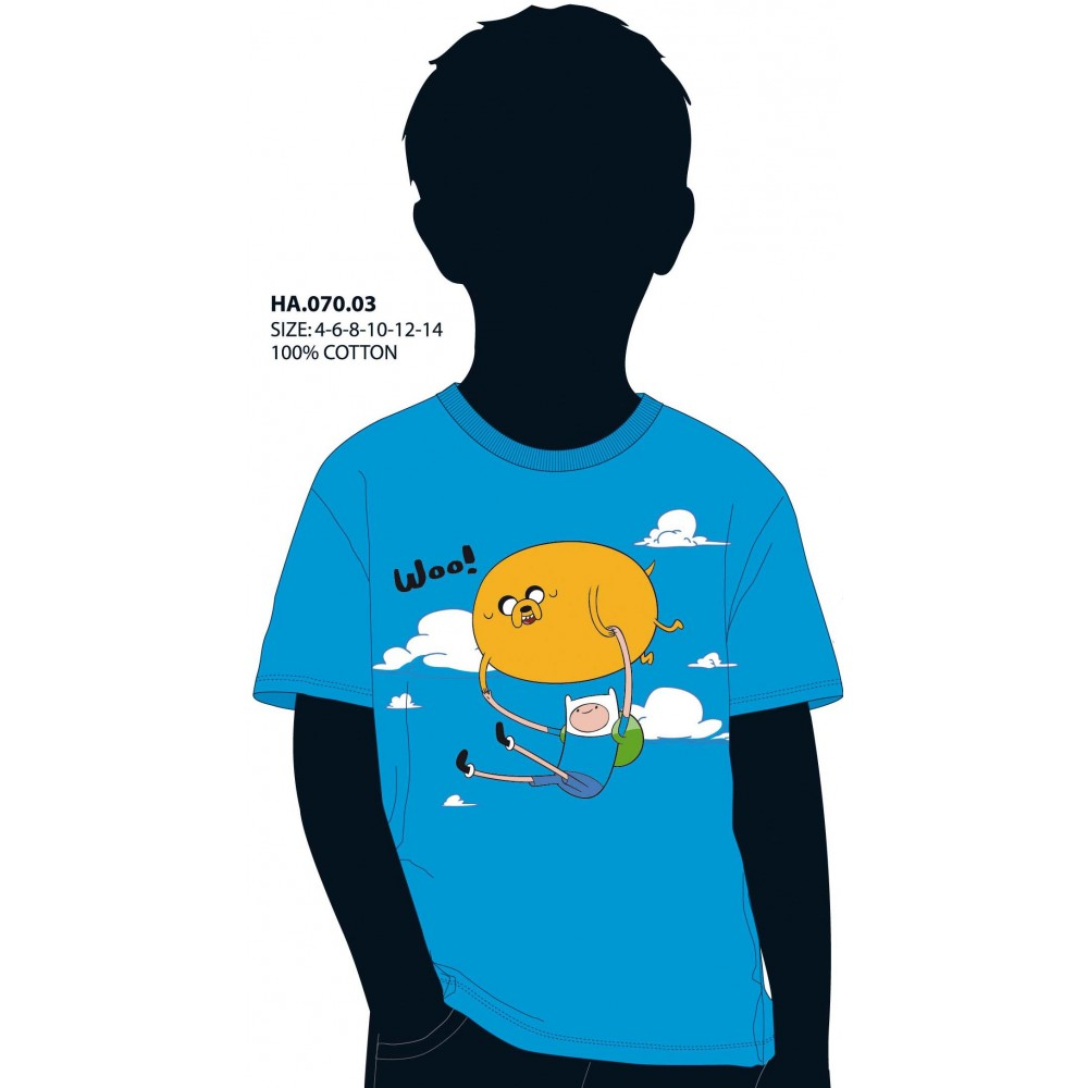 Camiseta Hora de Aventuras niño junior Woo! manga corta