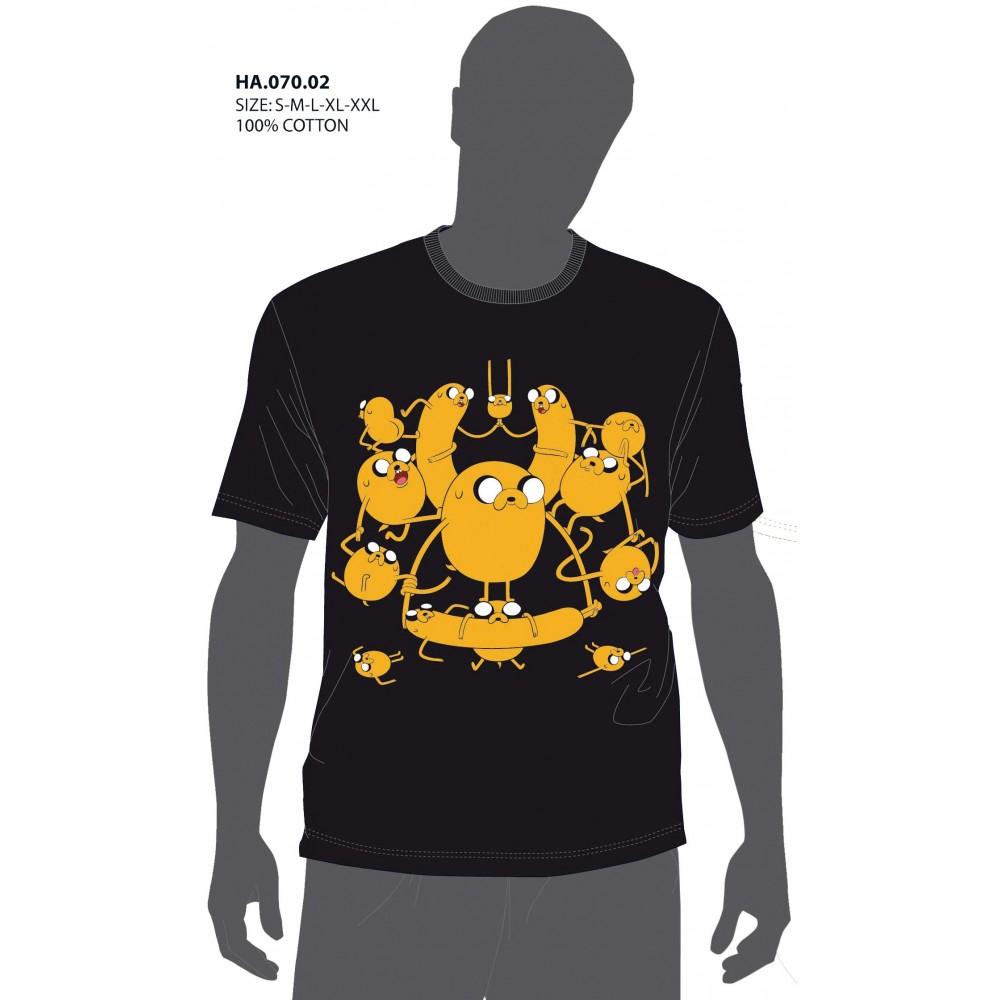 Camiseta Hora de Aventuras Adulto Jake el perro manga corta