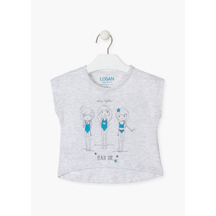 Camiseta Losan Kids niña BEACH TIME corta