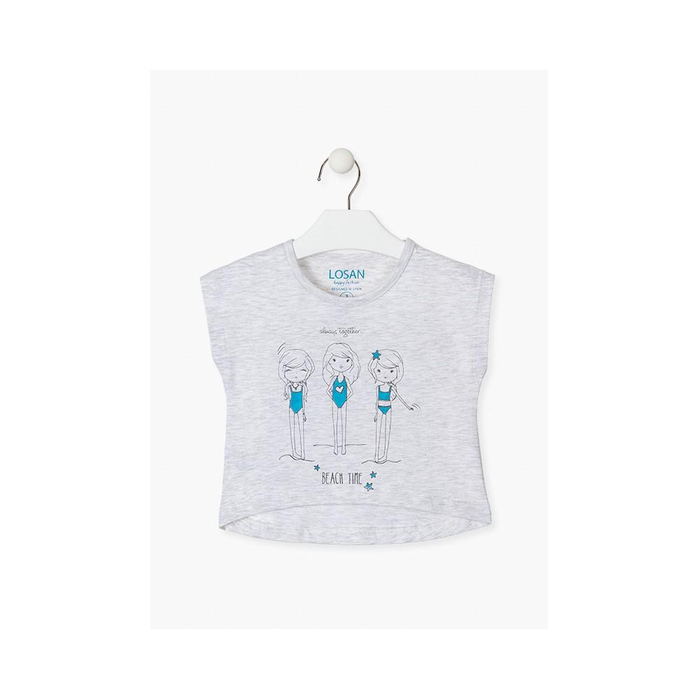 Camiseta Losan Kids niña BEACH TIME corta