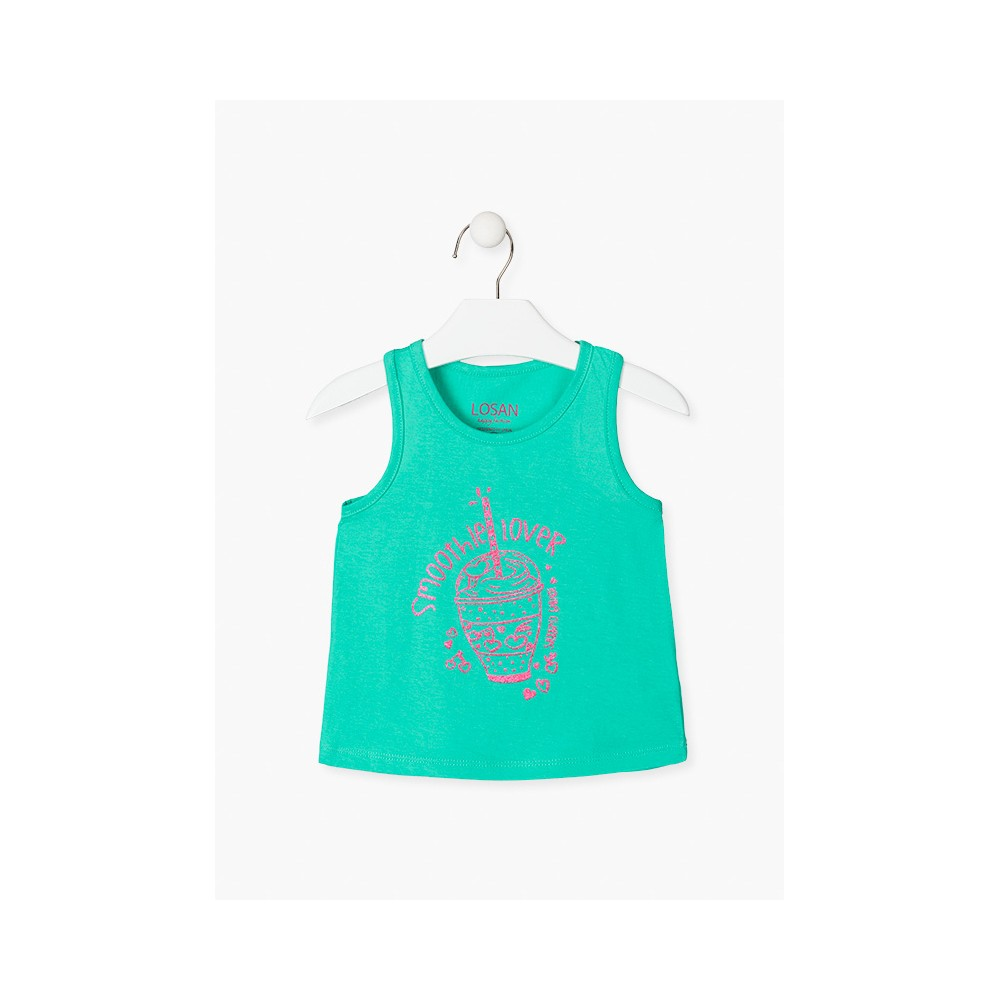 Camiseta Losan Kids niña Smoothie Lover sin mangas