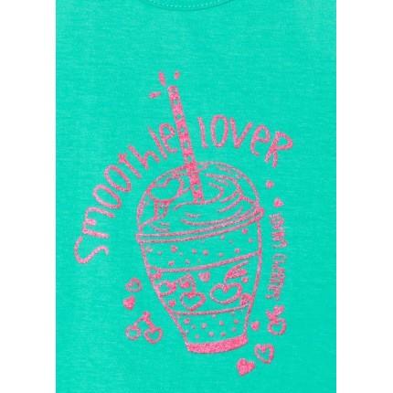 Detalle estampado Camiseta Losan Kids niña Smoothie Lover sin mangas