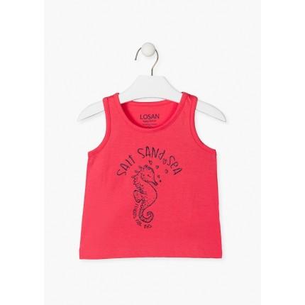 Camiseta Losan Kids niña Salt Sand Sea sin mangas