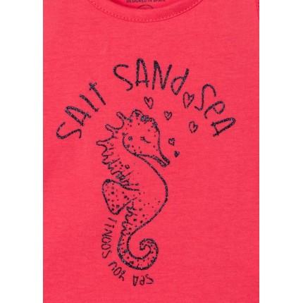 Detalle Camiseta Losan Kids niña Salt Sand Sea sin mangas