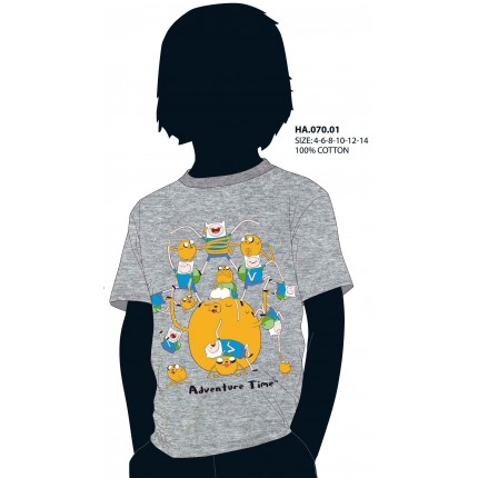 Camiseta Hora de Aventuras niño junior Adventura Time manga corta