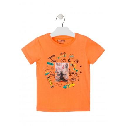 Camiseta Losan Kids niño RIDER infantil manga corta
