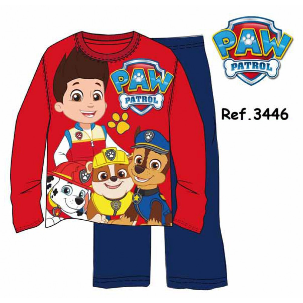 Pijama niño Paw Patrol Ryder manga larga