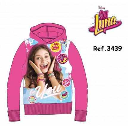 Sudadera Soy Luna niña Patines junior capucha