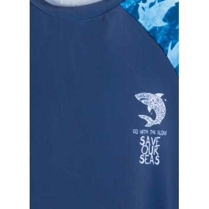 Detalle sublimación Camiseta Losan Kids niño SHARK infantil protector
