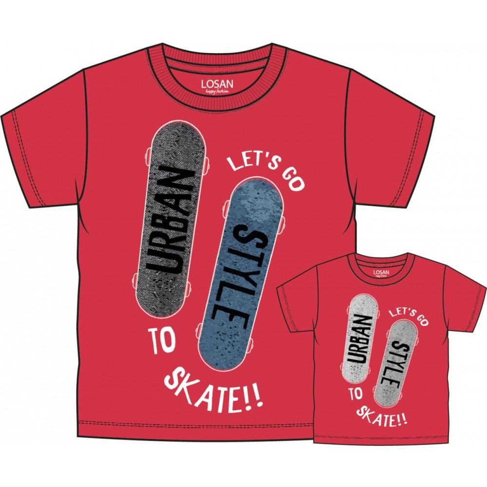 Camiseta Losan Kids niño Skate manga corta