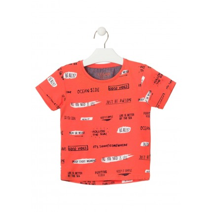 Camiseta Losan Kids niño All you need is less manga corta
