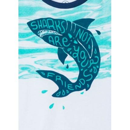 Detalle estampado Camiseta Losan Kids niño SHARKS sin mangas