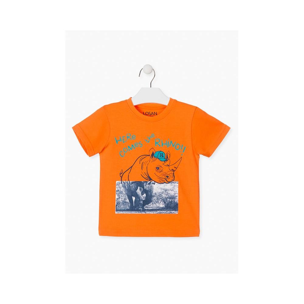 Camiseta Losan Kids niño Rhino manga corta