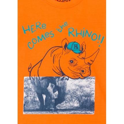 Detalle estampado Camiseta Losan Kids niño Rhino manga corta