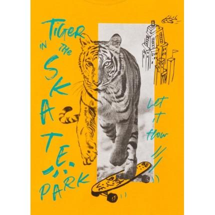 Detalle estampado Camiseta Losan kids niño Tiger manga corta