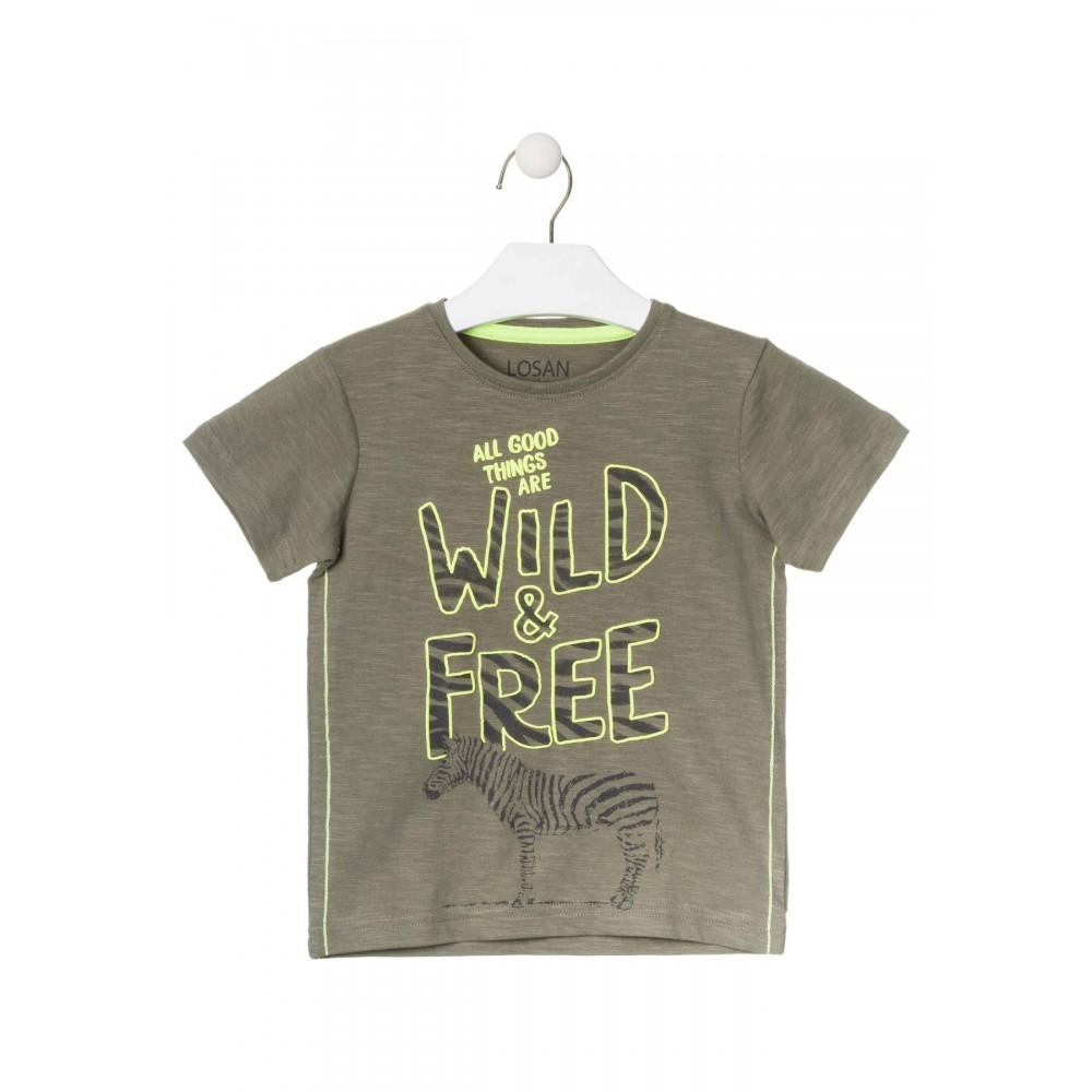 Camiseta Losan Kids niño Wild & Free manga corta