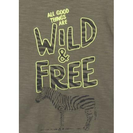Detalle estampado Camiseta Losan Kids niño Wild & Free manga corta