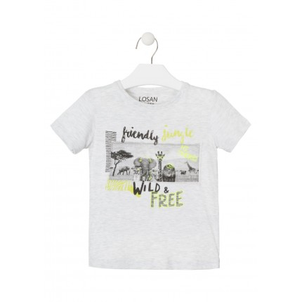 Camiseta Losan Kids niño Friendly Jungle manga corta
