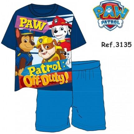 Pijama Patrulla Canina Paw Patrol Off Duty! niño manga corta