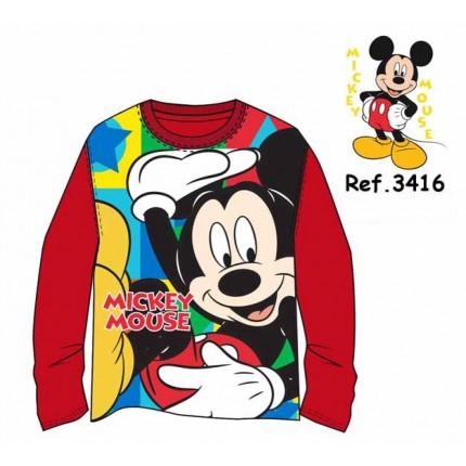 Camiseta Mickey niño Disney infantil manga larga