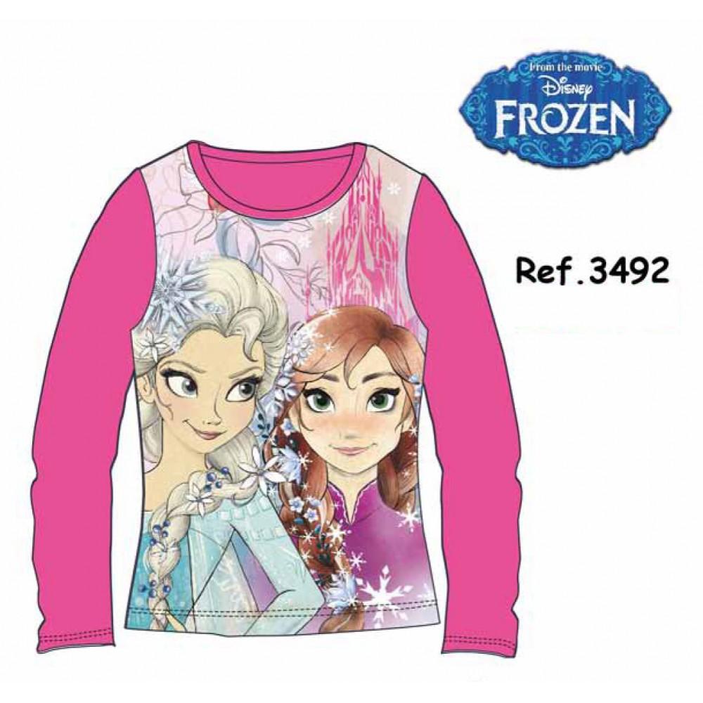Camiseta Frozen niña Elsa y Ana infantil manga larga