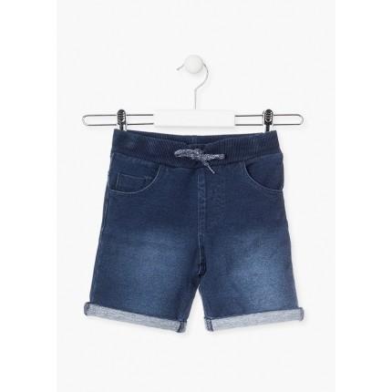 Pantalón Denim Losan niño básico cordón y goma