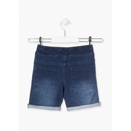 Parte trasera Pantalón Denim Losan niño básico cordón y goma