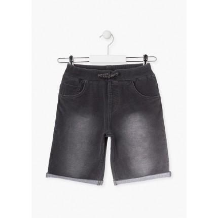 Pantalón Jeans Losan niño básico cordón y goma