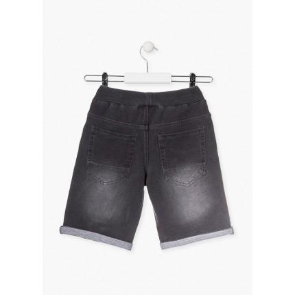Parte trasera Pantalón Jeans Losan niño básico cordón y goma
