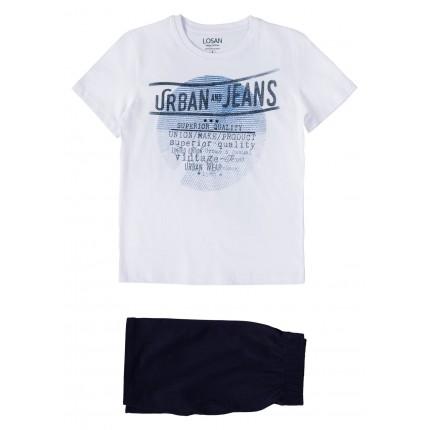 Pijama Losan niño Urban and Jeans manga corta