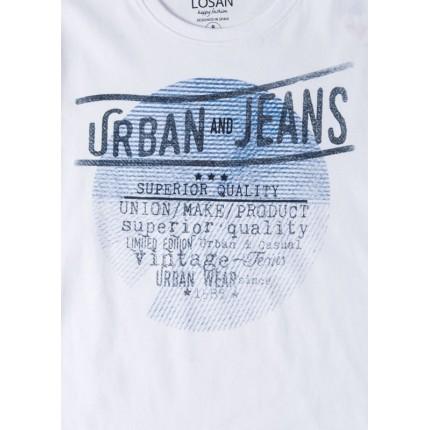 Detalle estampado Pijama Losan niño Urban and Jeans manga corta