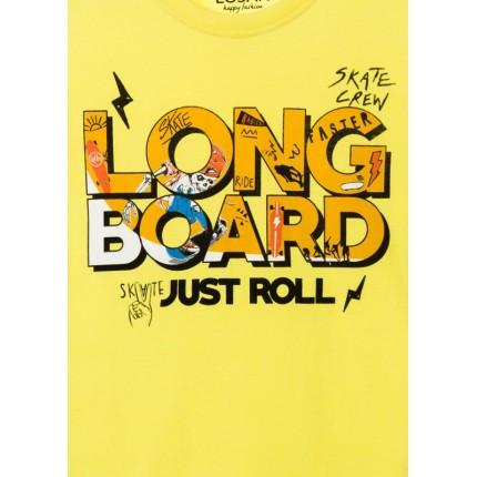 Detalle estampado Camiseta Losan niño Longboard manga corta